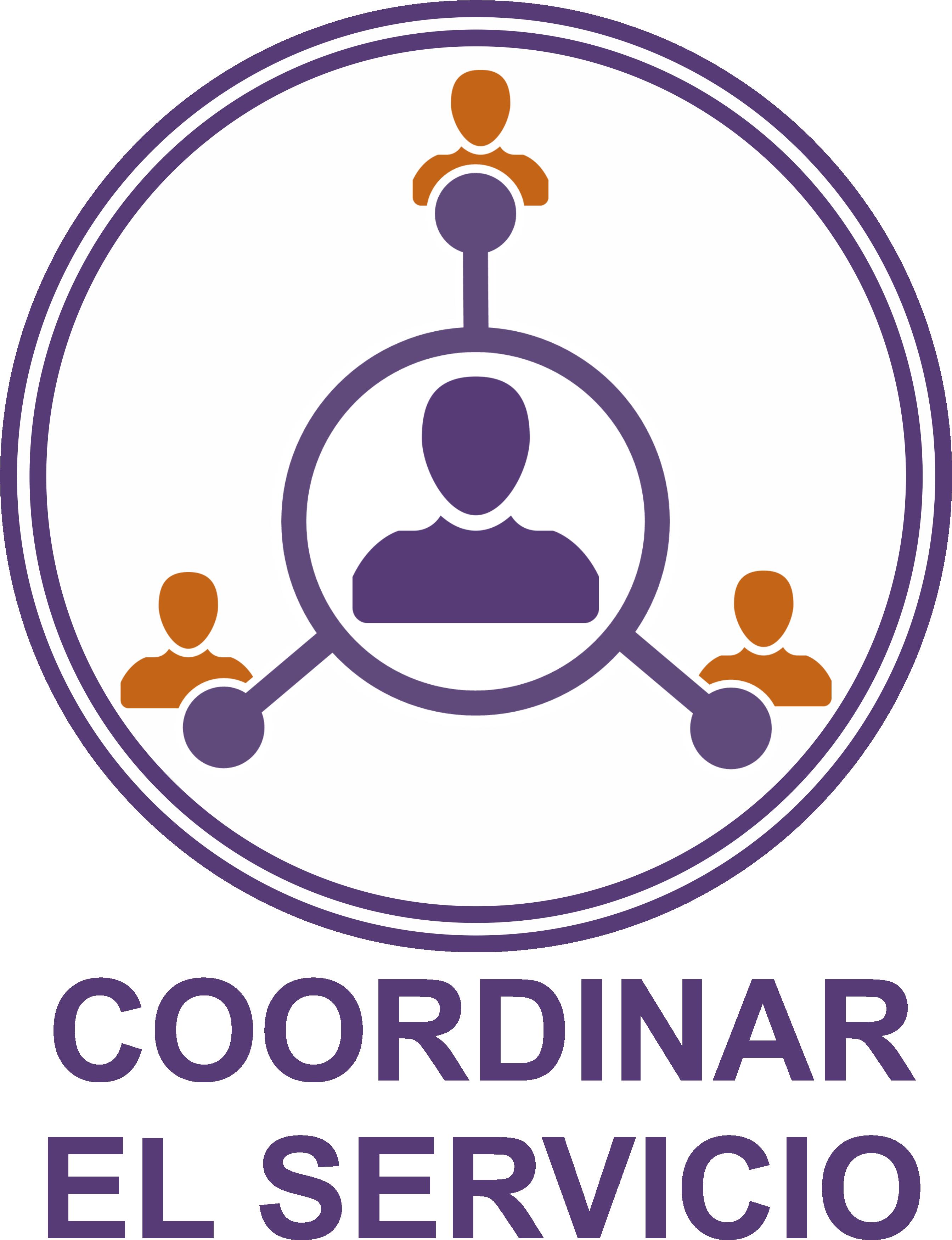 Icono 5 coordinar el servicio