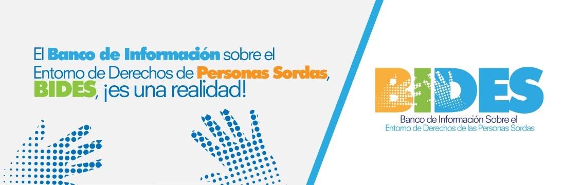 Banner Sitio Web Banco de Información sobre el Entorno de Derechos de Personas Sordas - BIDES