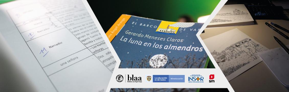 Banner -LA LUNA EN LOS ALMENDROS-, El Primer Libro en Lengua de Señas Colombiana