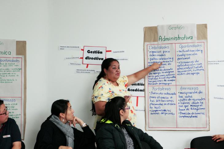 Docentes de Instituciones Educativas de Bogotá participan en talleres de capacitación liderados por el INSOR para la atención educativa de la población sorda.