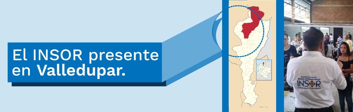 Banner Feria de Atención al Ciudadano - El INSOR presente en Valledupar