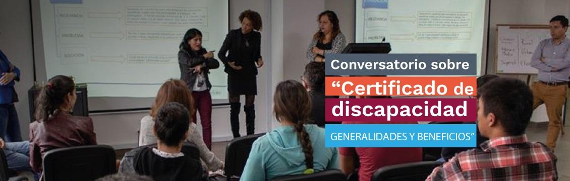 Banner Inscripciones Conversatorio 'Certificado de Discapacidad, Generalidades y Beneficios'