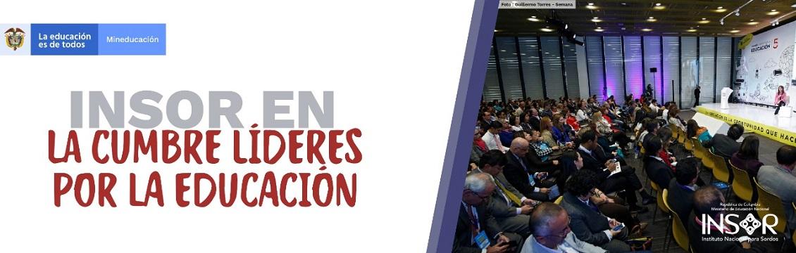 Banner INSOR en la cumbre líderes por la educación