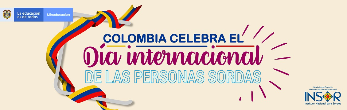 Banner Colombia celebra el día internacional de las personas sordas