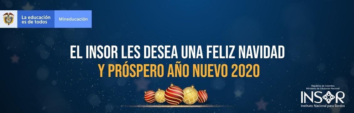 Banner El INSOR les desea una muy Feliz Navidad y un Próspero Año 2020