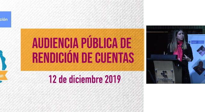 Audiencia Pública de Rendición de Cuentas INSOR 2019: #LosResultadosHablan