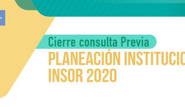 Consulta planes institucionales 2020