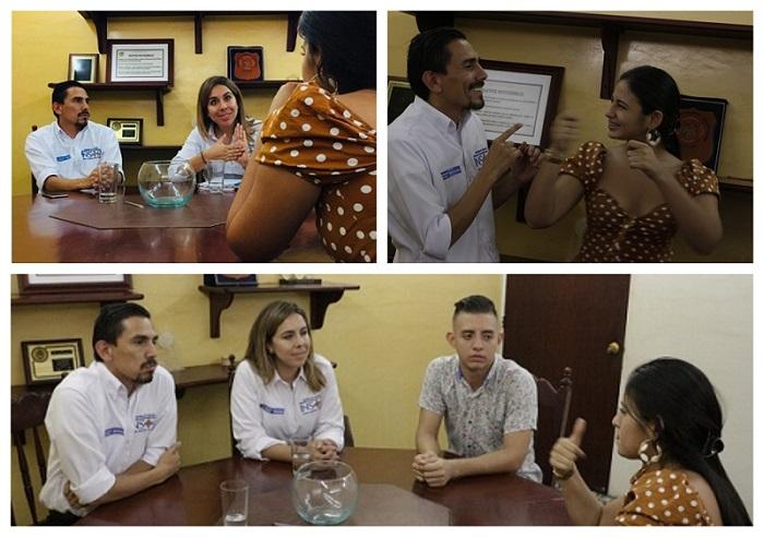 Collage Fotografías Visita Departamento Tolima - Directora Natalia Martínez, en compañía del asesor de dirección Geovani Melendres y la Concejala sorda Daniela Olivar.