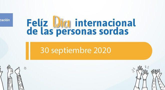 Banner de celebración del Día Internacional de las Personas Sordas