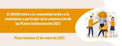 Construcción de los Planes Institucionales para el año 2021