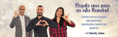 Banner Navidad INSOR 2020 - Regala una seña en esta Navidad