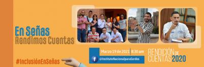 """Banner """"En Señas Rendimos Cuentas"""", Jornada de rendición de cuentas INSOR 2020"""