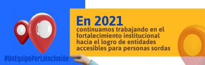 Banner fortalecimiento institucional en 2021