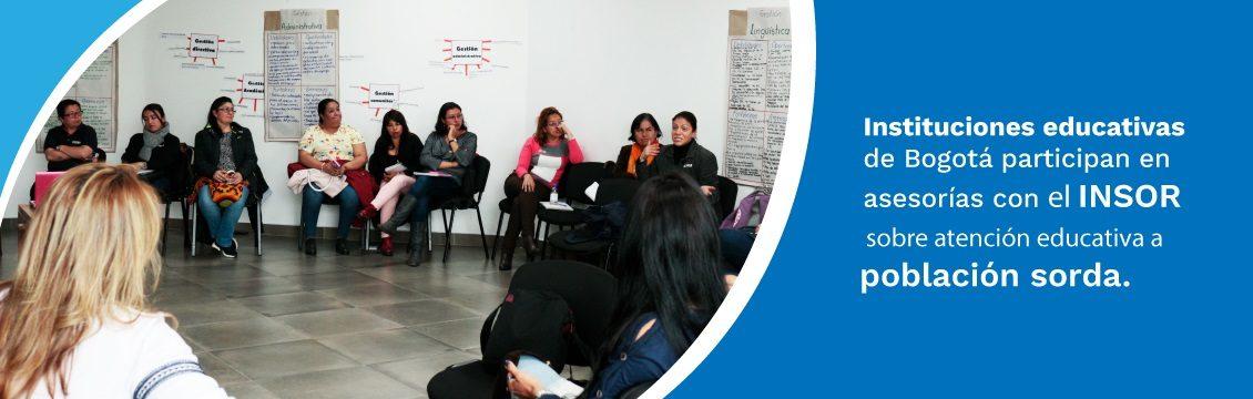 Instituciones educativas de Bogotá participan en asesorías con el INSOR sobre Atención Educativa A Población Sorda.