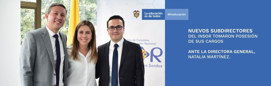 Nuevos subdirectores del INSOR tomaron posesión de sus cargos ante la Directora General, Natalia Martínez