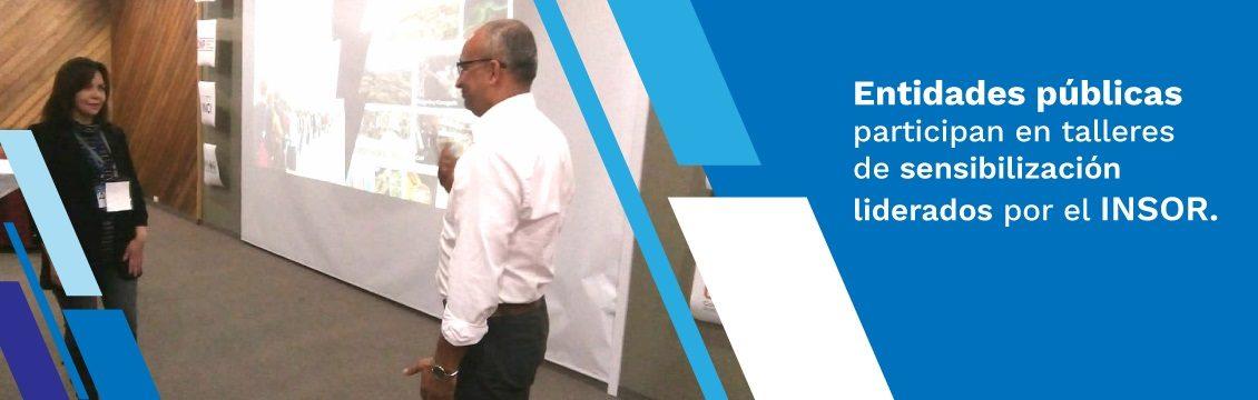 Entidades públicas participan en talleres de sensibilización liderados por el INSOR.